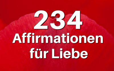 234 Affirmationen für Liebe in 80 Sekunden